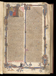 Historiated Initial And Borders, In Henry of Segusio's Commentary On Books I And II Of The Decretals Of Pope Gregory IX